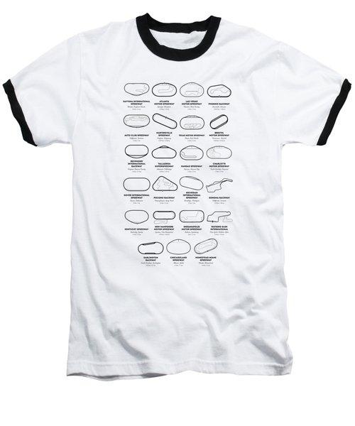 Nascar Racetracks 2018 Baseball T-Shirt