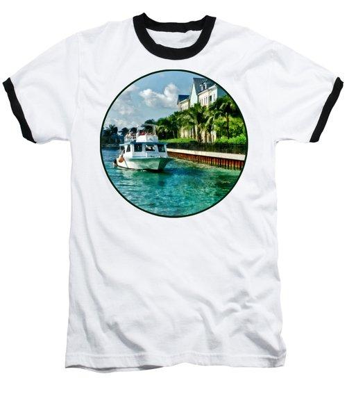 Bahamas - Ferry To Paradise Island Baseball T-Shirt by Susan Savad