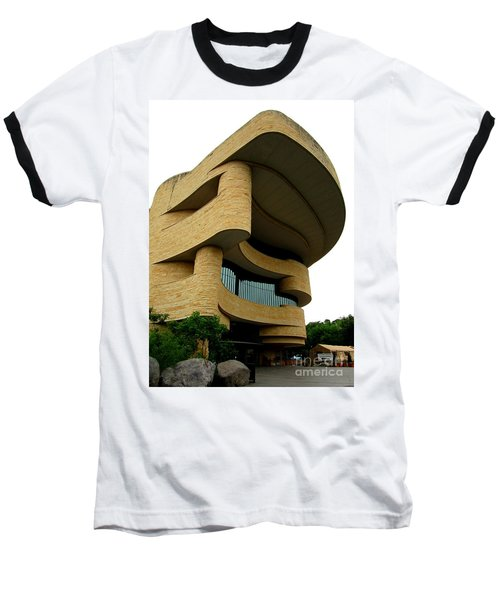 National Museum Of The American Indian 1 Baseball T-Shirt by Randall Weidner