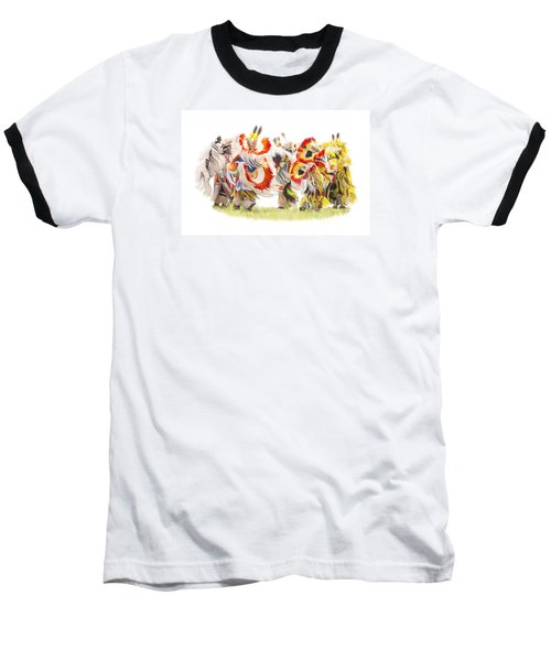 Native Color In Motion Baseball T-Shirt