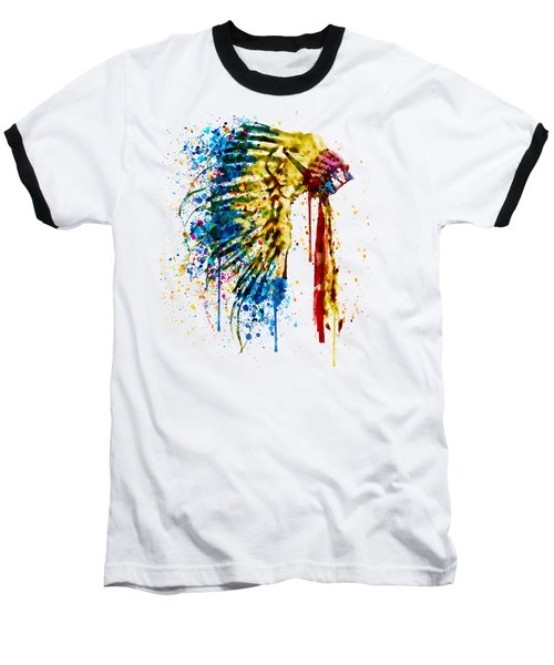 Native American Feather Headdress   Baseball T-Shirt