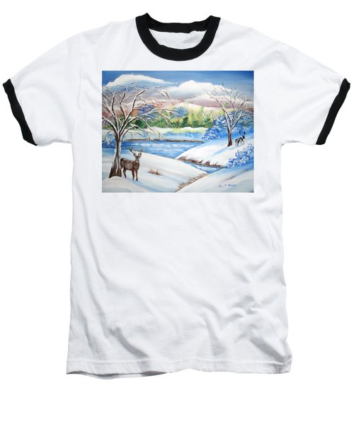 Natural Beauty Baseball T-Shirt by Luis F Rodriguez