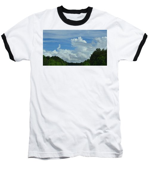 Natural Clouds Baseball T-Shirt