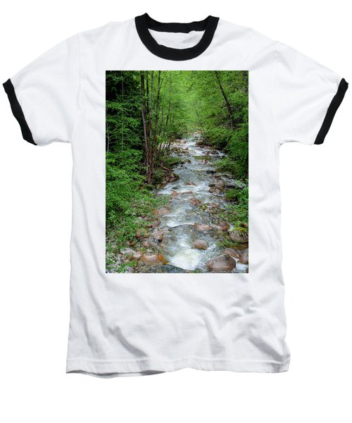 Naturally Pure Stream Backroad Discovery Baseball T-Shirt