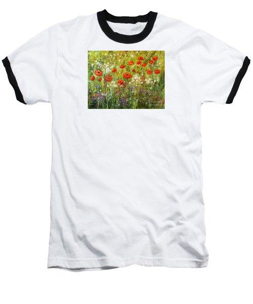 Nature Walk Baseball T-Shirt by Valerie Travers