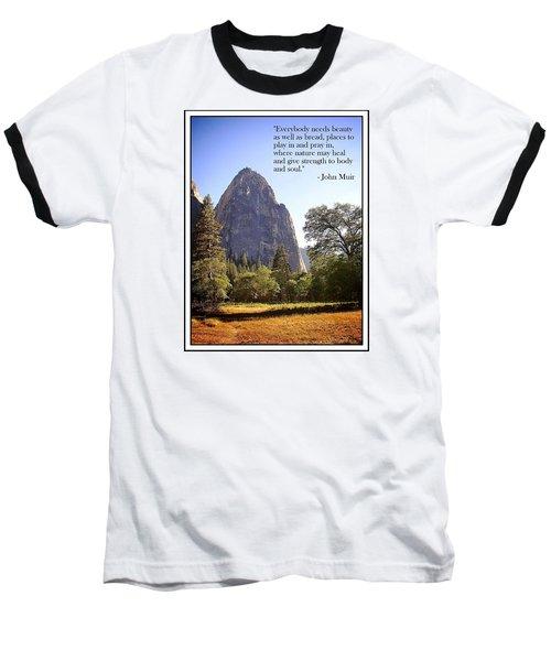 Natures Cathedral Baseball T-Shirt