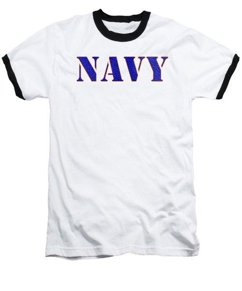 Navy Baseball T-Shirt by George Robinson