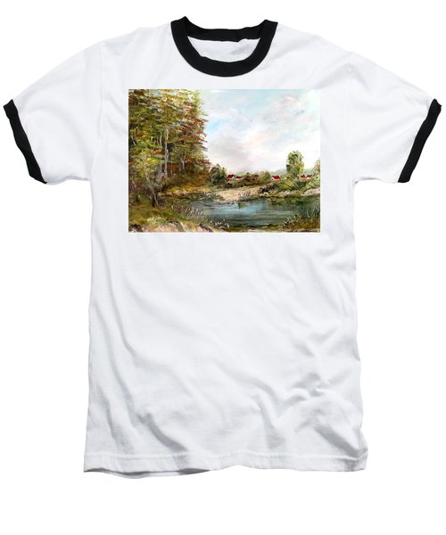 Near The Pond Baseball T-Shirt