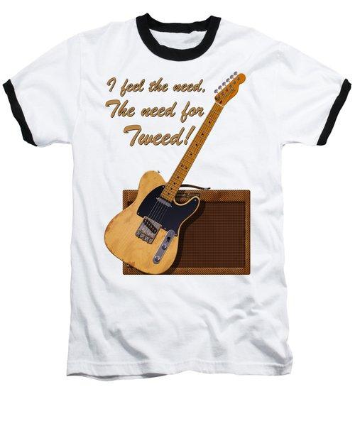 Need For Tweed Tele T Shirt Baseball T-Shirt by WB Johnston