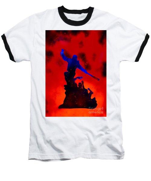 Negan Triumph  Baseball T-Shirt by Justin Moore