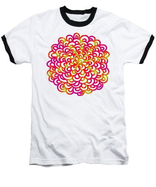 Neon Fractals Baseball T-Shirt
