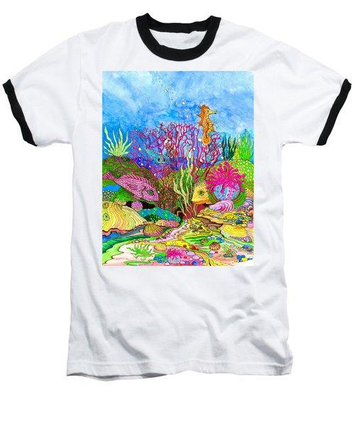 Neon Sea Baseball T-Shirt by Adria Trail