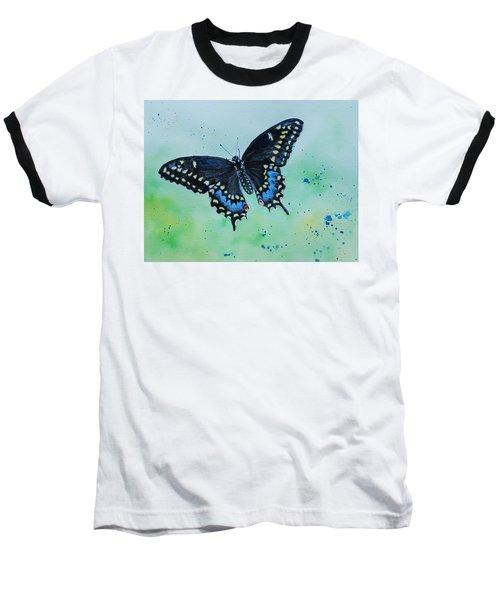 Neon Swallowtail Baseball T-Shirt