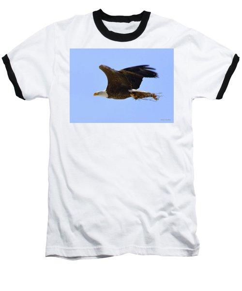 Nesting Eagle Baseball T-Shirt