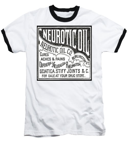 Neurotic Vintage Ad Baseball T-Shirt