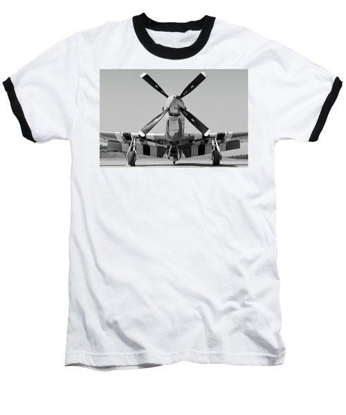 Never Keep A Mustang Waiting Baseball T-Shirt