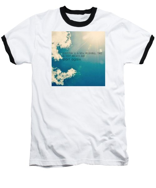Baseball T-Shirt featuring the photograph New Beginning by Artists With Autism Inc
