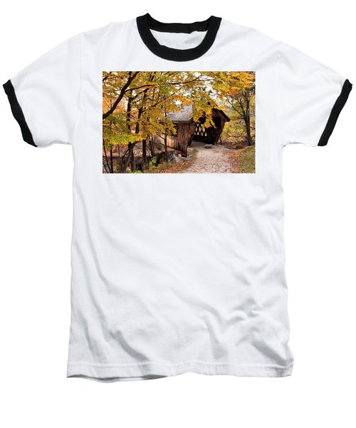 New England College No. 63 Covered Bridge  Baseball T-Shirt by Betty Pauwels