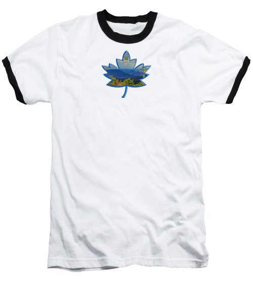 New Hampshire Maple Leaf Design Baseball T-Shirt by Mim White