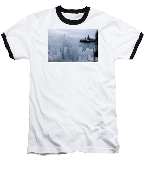 New Ice On Lake Superior Baseball T-Shirt
