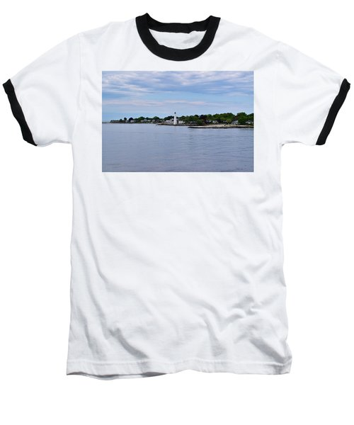 New London Harbor Lighthouse Baseball T-Shirt