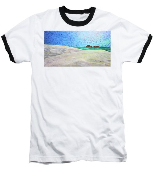 New Smyrna Beach As Seen From A Dune On Ponce Inlet Baseball T-Shirt