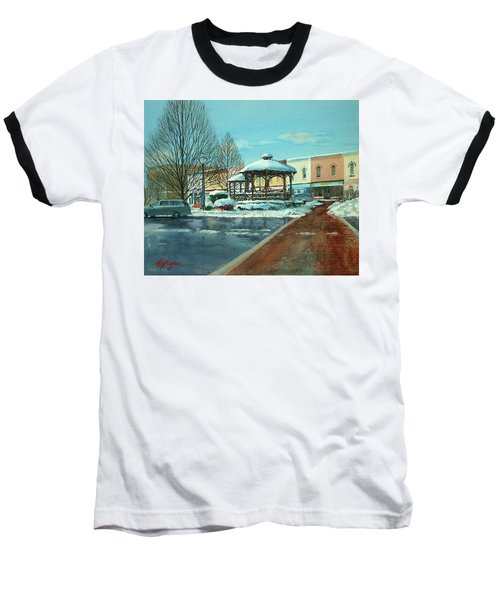 Triangle Park In Winter Baseball T-Shirt