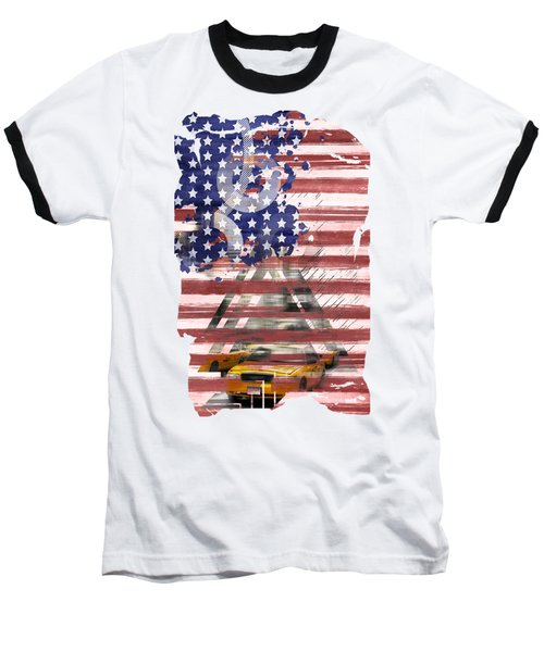 New York City Geometric Mix No. 8 Baseball T-Shirt