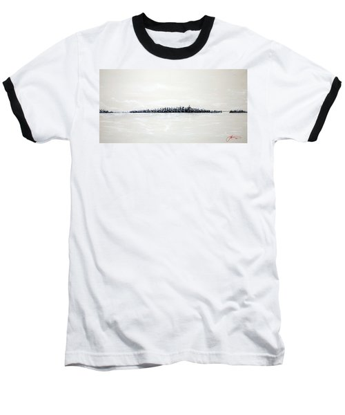 New York City Skyline 48 Baseball T-Shirt