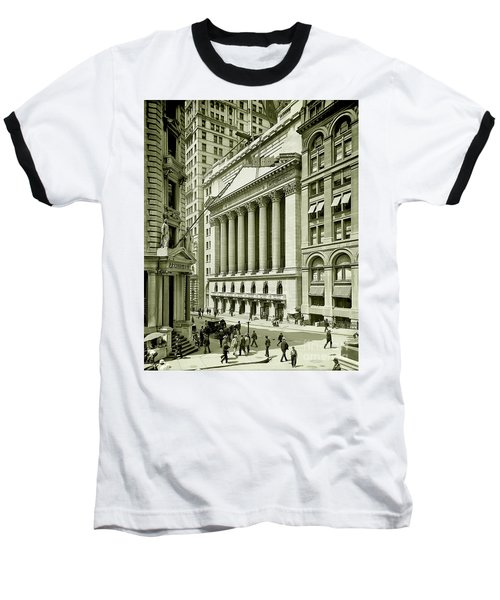 New York Stock Exchange Under Construction 1903 Baseball T-Shirt