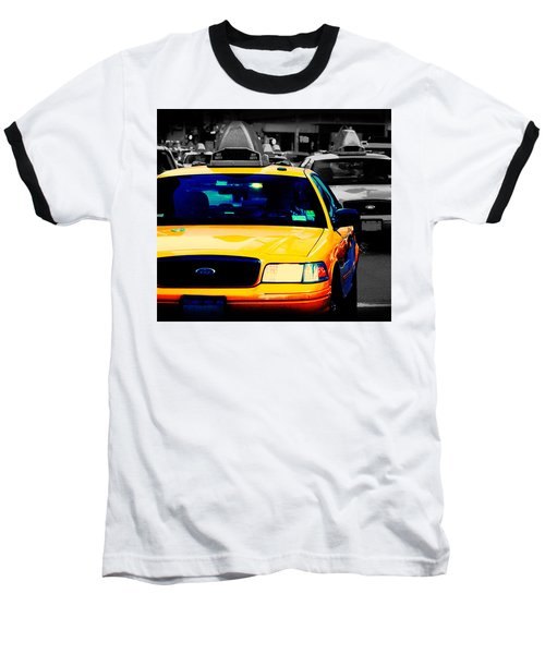 New York Taxi Baseball T-Shirt by Christopher Woods