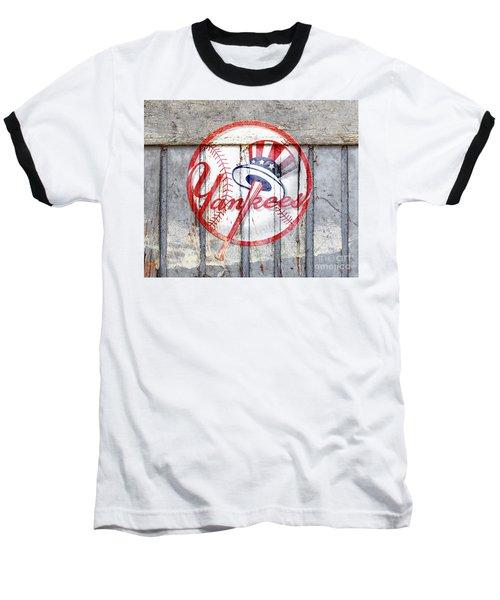 New York Yankees Top Hat Rustic 2 Baseball T-Shirt