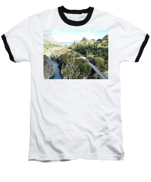 New Zealand Scene Baseball T-Shirt by Constance DRESCHER