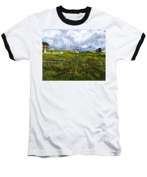 Newfoundland Jig Baseball T-Shirt by Diane Arlitt