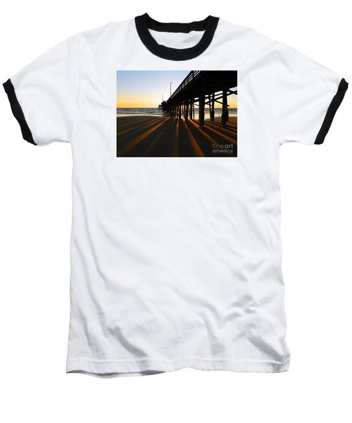 Newport Pier, Newport Beach   Baseball T-Shirt by Everette McMahan jr