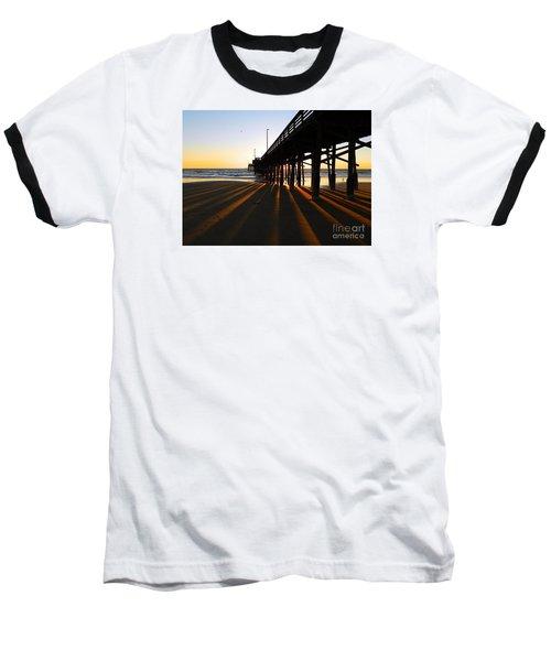 Newport Pier, Newport Beach   Baseball T-Shirt