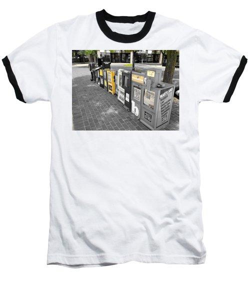 Newspaper Boxes Baseball T-Shirt