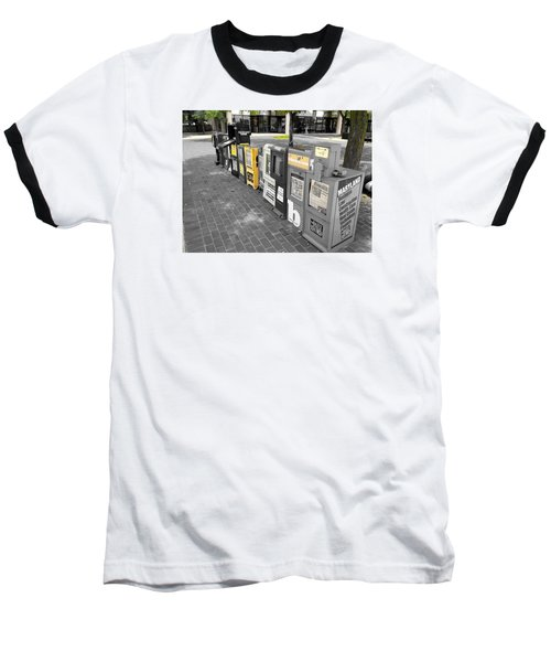 Newspaper Boxes Baseball T-Shirt