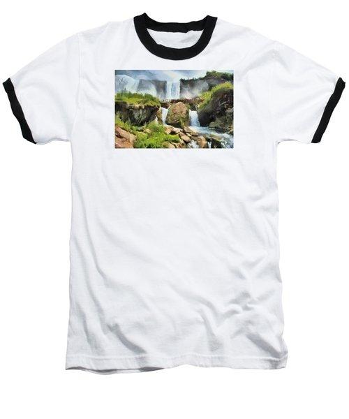 Niagara Falls Cave Of The Winds Baseball T-Shirt