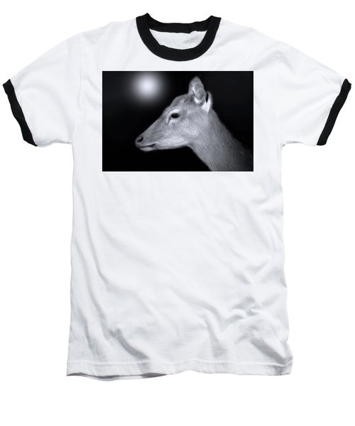 Baseball T-Shirt featuring the photograph Night Doe by Marion Johnson