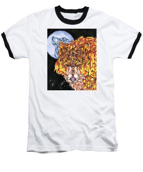 Night Fire Baseball T-Shirt