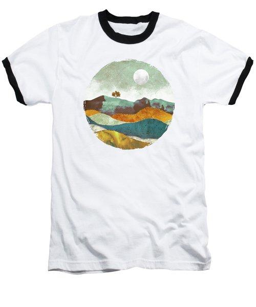 Night Fog Baseball T-Shirt by Spacefrog Designs