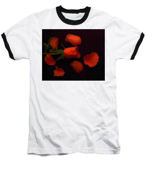 Night Rose 2 Baseball T-Shirt