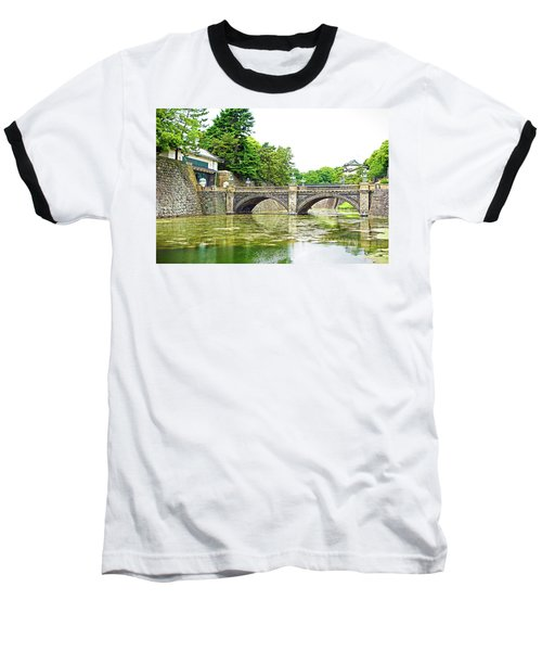 Nijubashi Bridge Baseball T-Shirt