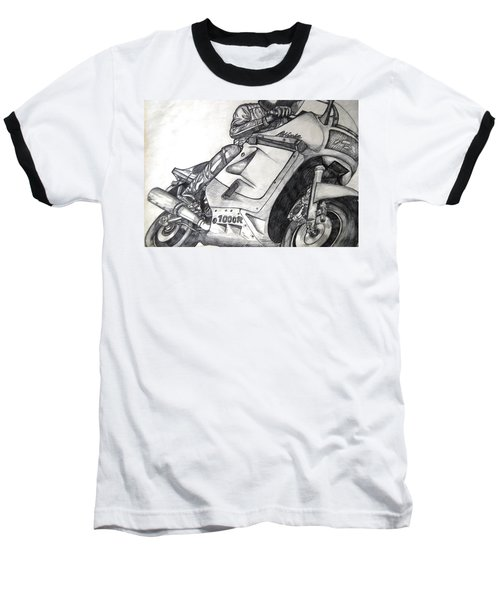 Ninja  Baseball T-Shirt by Angela Murray