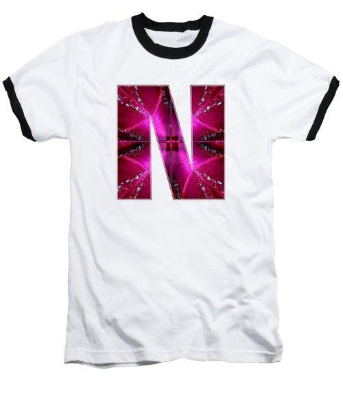 Nnn Nn N  Alpha Art On Shirts Alphabets Initials   Shirts Jersey T-shirts V-neck By Navinjoshi Baseball T-Shirt