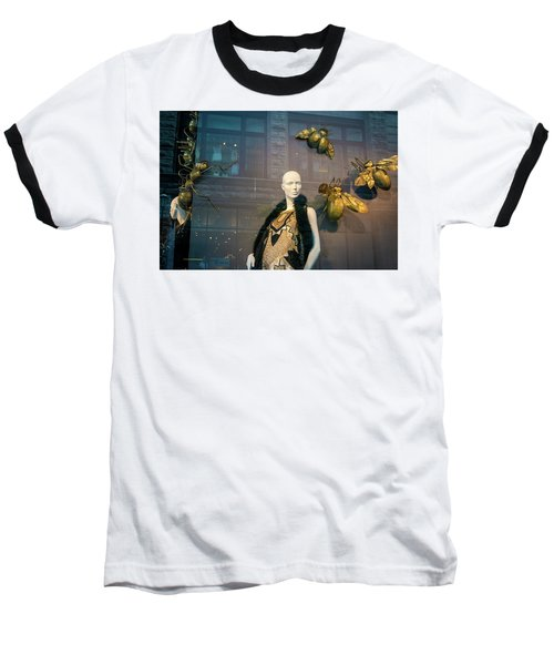 Baseball T-Shirt featuring the photograph No Nothing Is Bugging Me by Alex Lapidus