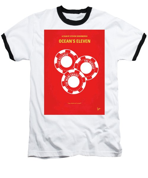 No056 My Oceans 11 Minimal Movie Poster Baseball T-Shirt