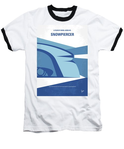 Baseball T-Shirt featuring the digital art No767 My Snowpiercer Minimal Movie Poster by Chungkong Art
