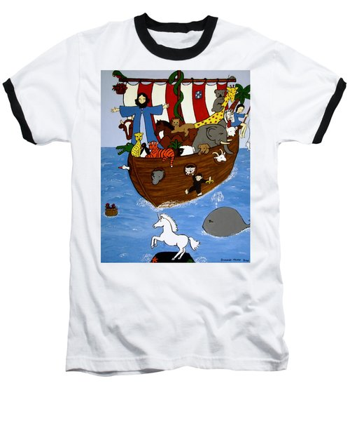 Baseball T-Shirt featuring the painting Noah's Ark by Stephanie Moore
